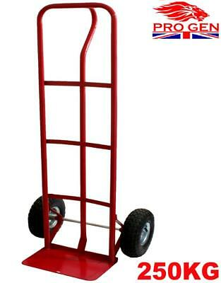 New Red Heavy Duty 250kg Sack Trolley Truck Steel Garden Goods Wheel Barrow