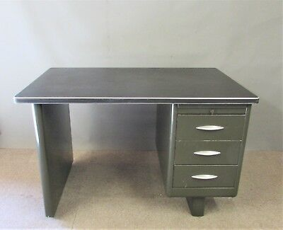 Vintage Mid Century Metal  Engineers / Industrial  Desk  50's or 60's - EX MOD