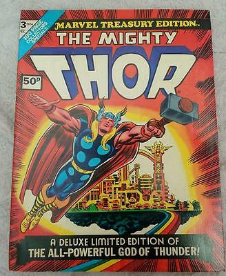 Marvel  Treasury Comics VFN- 3 1974 THOR hulk thing spiderman