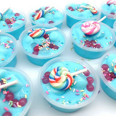 Unicorn Birthday Cake Slime Scented with Charm Plasticine Mud Educational Toy HE