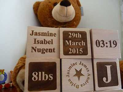 Personalised Baby Name building Blocks: New Born Baby Gift