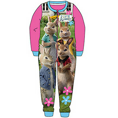 Girls all-in-one, sleepsuit, pyjamas, character pjs 18mths -5yrs - PETER RABBIT