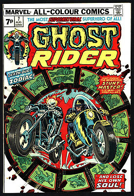 Ghost Rider #7 Very Glossy Copy, White Pages From 1974