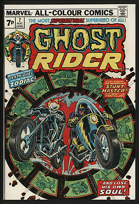 Ghost Rider #7 Very Glossy Copy With White Pages From 1974
