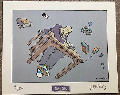 Moebius Giraud Very Bel Ex Libris Colours Table Drawing Numbered Sign Ex/250