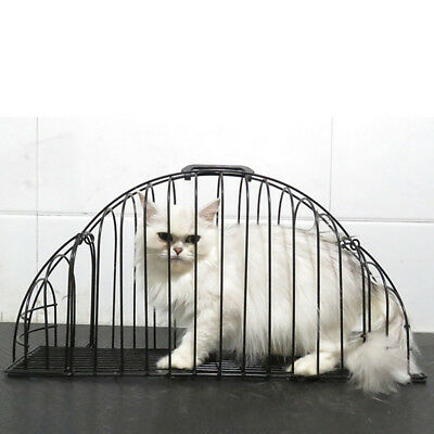 Pet Cat Cage Multi-functional Washing Shower Bath Cage Helper Tool Black