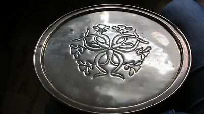 Arts & Crafts , Brass Salver / Tray on 3 Ball Feet