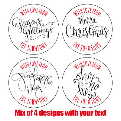 Personalised MODERN LOOK CHRISTMAS Stickers Labels Gift Wrapping Xmas Wrap 846