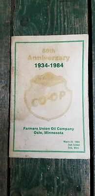 Farmers Union 50Th Anniversary Oil Company Oslo MN Minnesota Minn 1934 to 1984