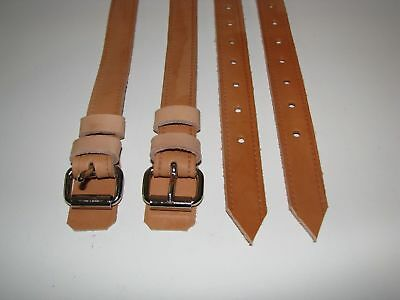 Early PORSCHE 911 912 Rear Seat Natural Leather Luggage Straps Belts Hand Made