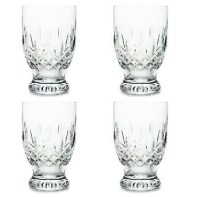 Waterford Crystal Lismore Set of Four 8 oz Diamond & Wedge Cut Footed Glasses