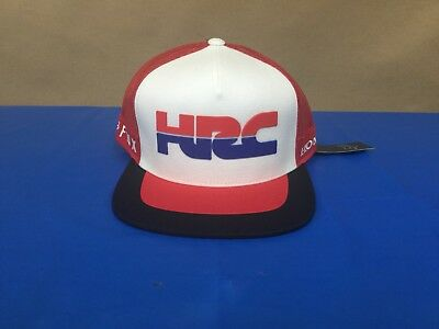 New Fox Men's Red & White HRC Honda Snapback Hat One Size Fits All 22579-003-OS