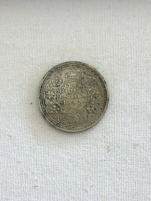 1945 British India ONE RUPEE- SILVER COIN