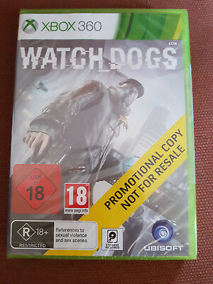 Microsoft Xbox 360 Game Watch Dogs Brand New Sealed Promo Version