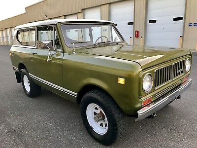 1975 International Harvester Scout II Unmolested Survivor All Original V8 3 SPD 1975 International Scout II All Original Survivor Uncut w/ 304 V8 3 Speed Manual