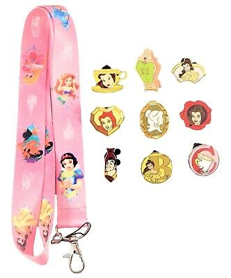 Belle - Beauty and the Beast Starter Lanyard Set w/ 5 Disney Trading Pins ~ NEW