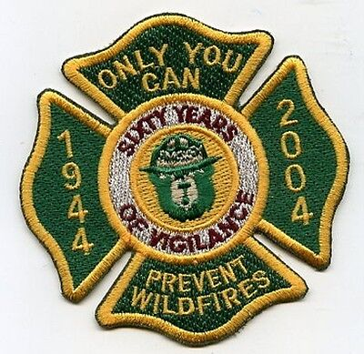 Us Wald Firefighter Hot Shot Smokey Bear Aufnäher Collection: 60-year Services