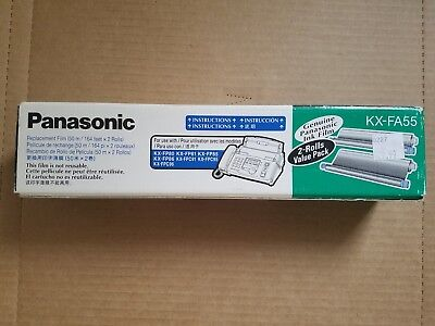 Genuine Panasonic KX-FA55 Fax Replacement Film 2 Roll Value Pack