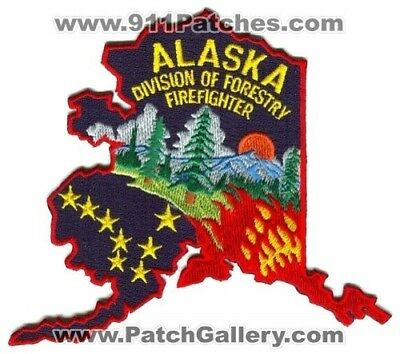 Alaska Division of Forestry Firefighter Forest Fire Wildfire Wildland Patch Alas