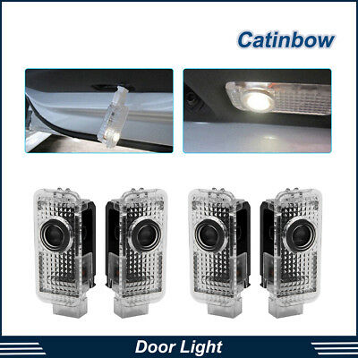 4x LED Car Door Logo Welcome 3D Shadow Lights Courtesy Laser For AUDI A4 A6 A8