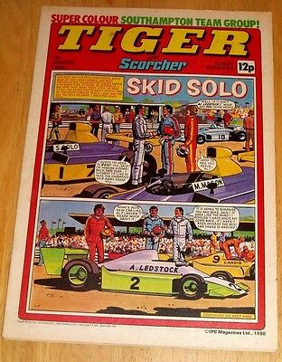 Tiger Comic 1980 With Southampton  Team  Centrefold  Poster