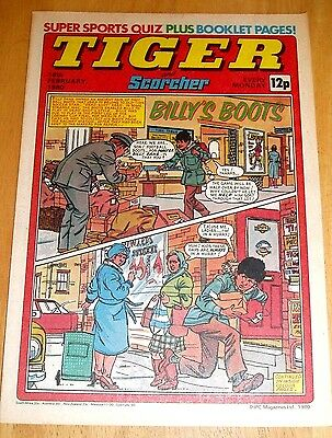 Tiger Comic 1980 With Burnley  Team Centrefold Poster & Superman Colour Advert