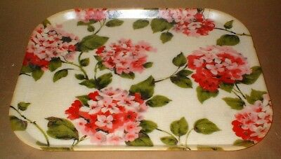 1960's VINTAGE FIBREGLASS FLORAL PATTERN SERVING TRAY - kitsch retro shabby chic