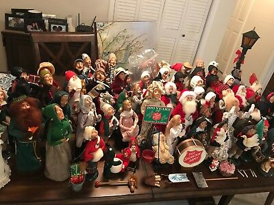 Lifetime Collection of Byers Choice Carolers dolls (65)dolls & 7 accessories