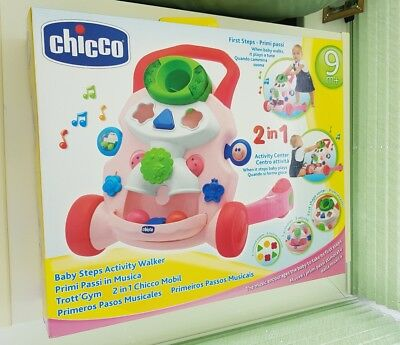 CHICCO Toy Baby Steps Activity Walker Pink 9 Months