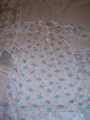 Vtg ToddleTime Sleep Gown Newborn X-Small Up to 9 lbs. JC Penney Baby or Doll