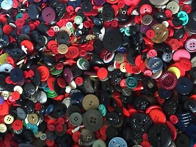 Lot of Vintage & New Buttons 1/2 Pound Bag 24733