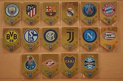 Panini Adrenalyn XL FIFA 365 2019 Club Badge Karten Cards aussuchen choose
