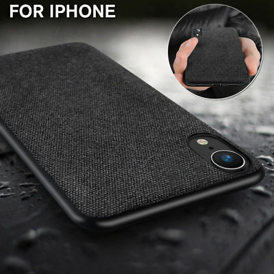 Luxury Shockproof Fabric Soft TPU Back Case Cover For iPhone Xr Xs Max 7 8 Plus