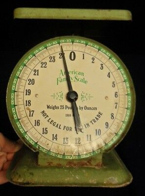 Vintage 25 lbs By Ounces American Family Scale 1906 Model