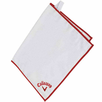 """NEW Callaway Golf Players Towel White / Red 20"""" x 30"""""""