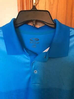a7f3e9469ef6 C9 Champion mens shirt casual golf polo performance duo dry polyester blue  s s L