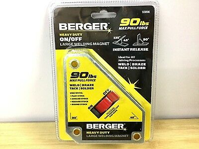 Berger Heavy Duty On/Off Large Welding Magnet - (63896)  90 Pound Pull Force