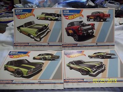 Hot Wheels 9 K-Mart Day E-Sheets (Info) Posters; 2014, '15, '16, '17, '18