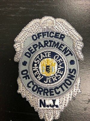 New Jersey Department of Corrections Officer Chest Patch Collectible Free Ship