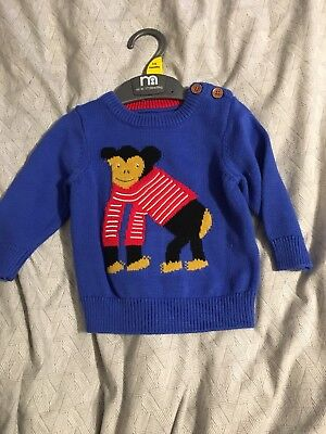 Joules boys Monkey Jumper 3-6 months