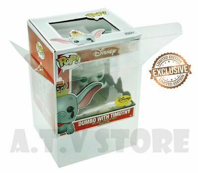 Vinyl Box Case Protector For Dumbo With Timothy Funko Pop + Micro Cloth