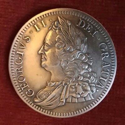 King George ll crown coin 1746 (reproduction).