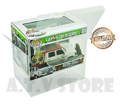 Vinyl Box Case Protector For Ecto-1 With Jillian Holtzmann Funko Pop + Cloth