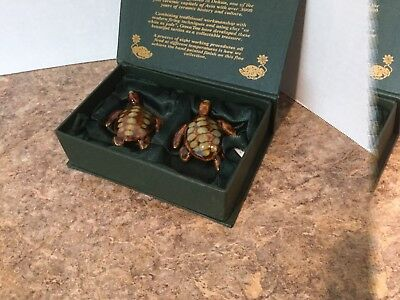 Golden Pond Collection by Green Tree Dehua China Ceramic Sea Turtle Figurines