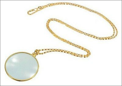 Magnifying Glass and Goldtone Necklace