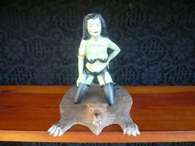 """LILY MUNSTER """"Risque"""" Almost Naked Plastic Figure w/WereWolf Rug...Unique Item!"""