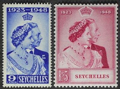 Seychelles 1948 George Vi Silver Wedding Mint Nh
