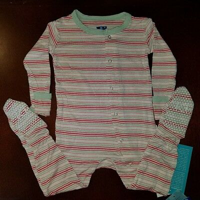 2914825ae6db KICKEE PANTS DESERT Stripe Toddler Girl Footie 12-18 Months New ...
