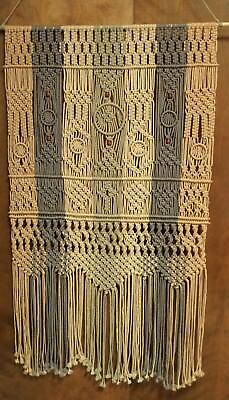 """The Chaplinini"" Handmade Macrame Art Wall Hanging 27"" x 52"""