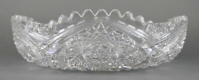 Fine Antique AMERICAN BRILLIANT Cut Crystal Glass Open Bowl EAPG 19th Cent Large